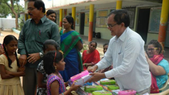 Passing Out School Books